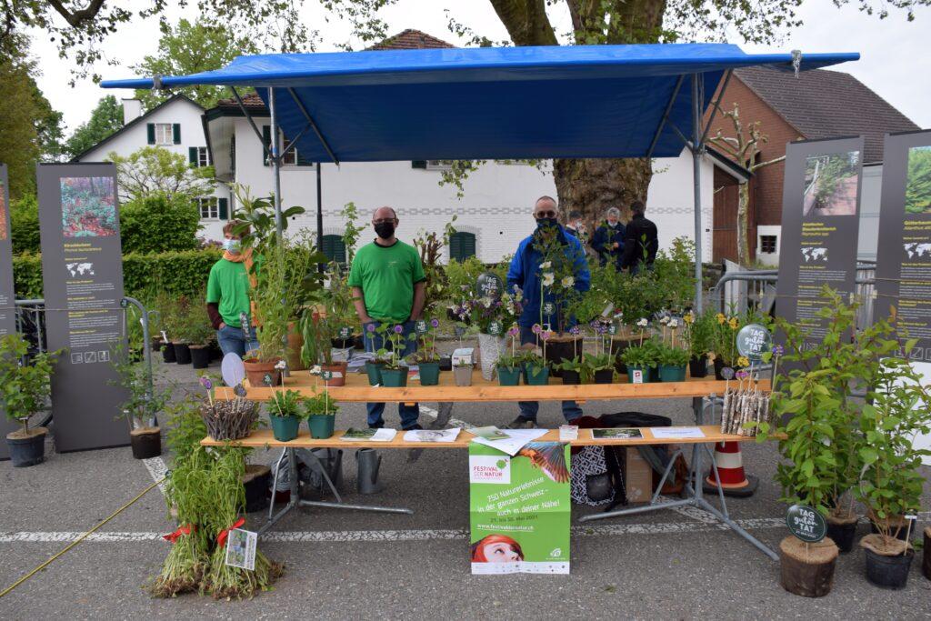 Unser grüner Stand am Frühlingsmärt Fehraltorf ©Rahel Beck 2021
